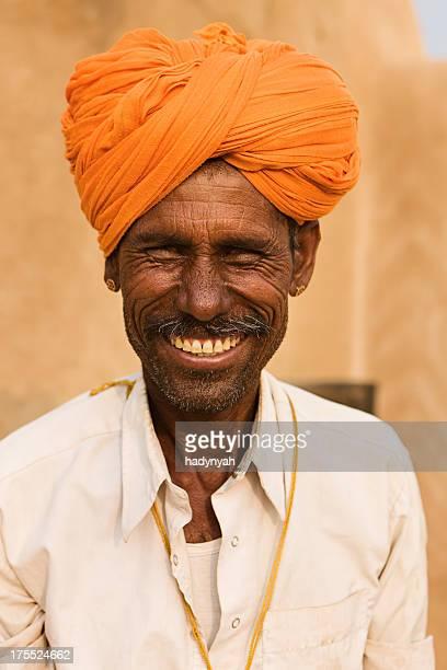 Indian man. Rajasthan. India.