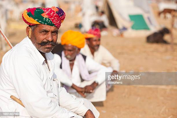 Indian Merchants at a Camel Fair
