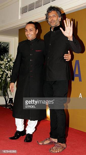 Indian model and actor Milind Soman attends an NGO fund raiser Equation 2013 sponsored by Bollywood actor Rahul Bose in Mumbai on March 1 2013 AFP...
