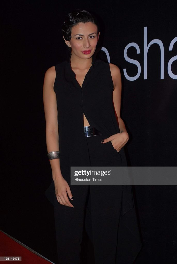 Indian Model Pia Trivedi during the Blackberrys Sharp Night Fashion Show at Mehboob studio, Bandra on May 3, 2013 in Mumbai, India. The Blackberrys Sharp Night is a fashion show organised by Blackberrys to showcase their new Summer/Spring collection.