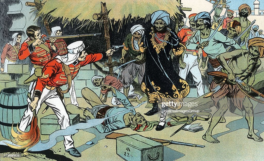the great indian mutiny of 1857 Indian mutiny, also known as the sepoy mutiny or the great war of independence : mutineers attacking magazine at delhi 11 may 1857 lieutenant willoughby, who died of his wounds, gave the order to the defending garrison to exploded magazine, so denying the rebels supplies of arms and ammunition colour-printed lithograph c1900.