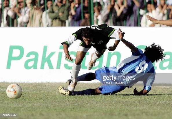 Indian national football team player Clifford Miranda vies for the ...