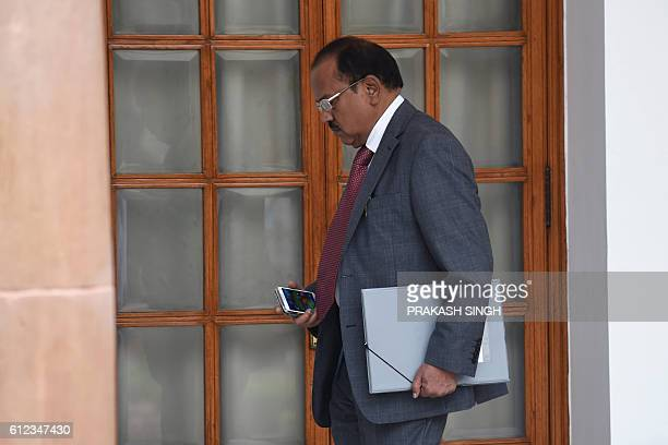 Indian National Security Advisor Ajit Doval walks between meetings in New Delhi on October 4 2016 Last week India launched what it termed 'surgical...