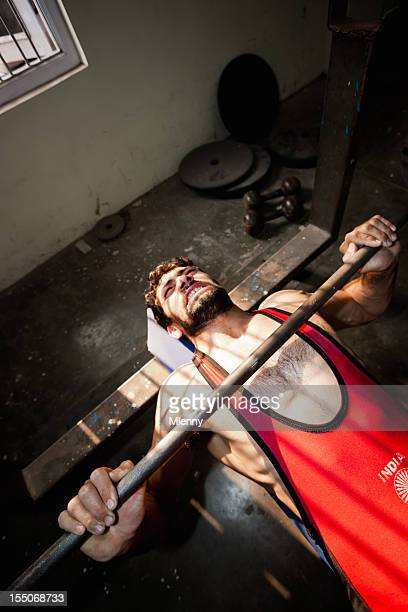 Indian National Team Wrestler Lifting Weights New Delhi India