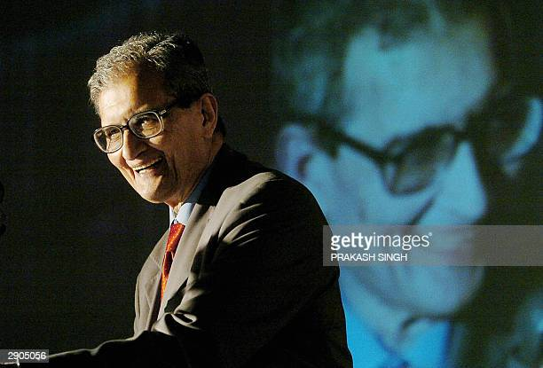 Indian Nobel Laureate and noted economist Amartya Sen delivers an address during the inauguration of the Fifth Annual Global Development Network...