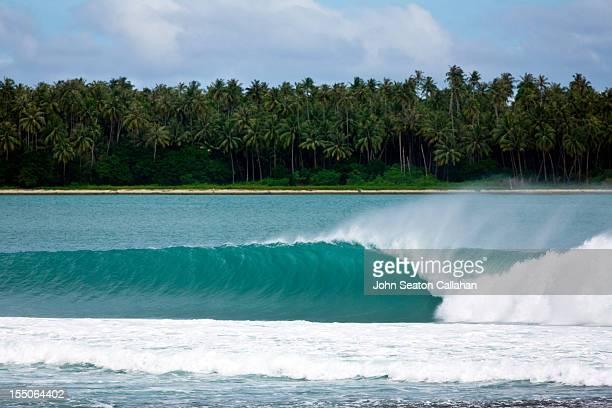 Indian Ocean wave, Lagundri Bay, Nias.
