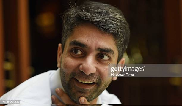 Indian Olympic Gold Medalist shooter Abhinav Bindra during an interaction with Hindustan Times on August 12 2015 in New Delhi India Bindra says that...