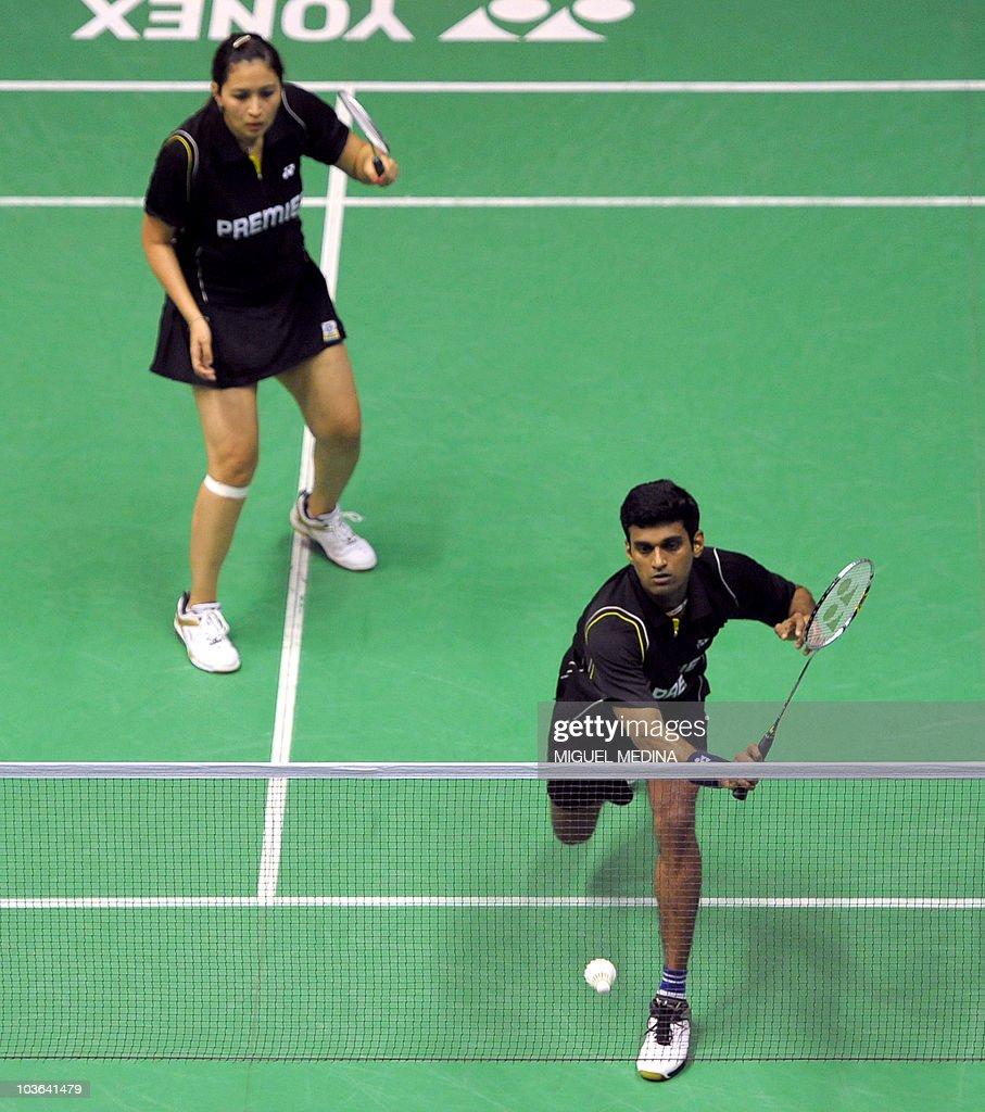 Indian pair V Diju and Jwala Gutta bott