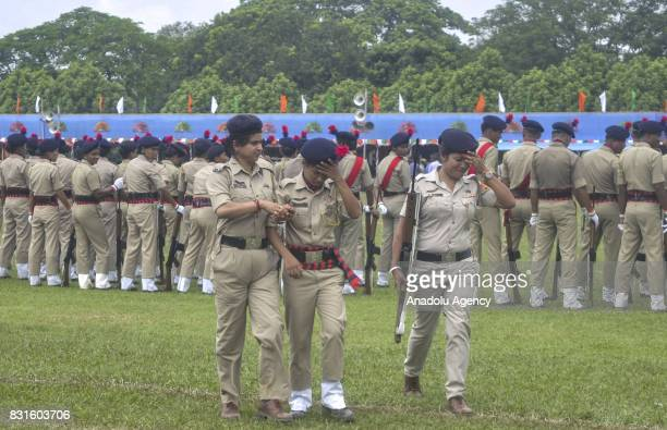 Indian paramilitary soldiers attend a parade during Indian Independence Day celebrations in Agartala India on August 15 2017