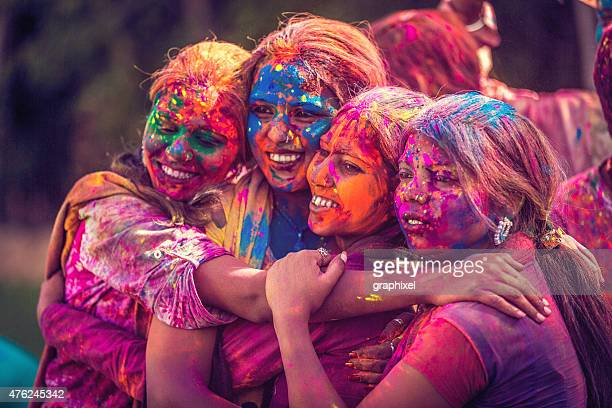 Indian People Celebrating Holi Festival