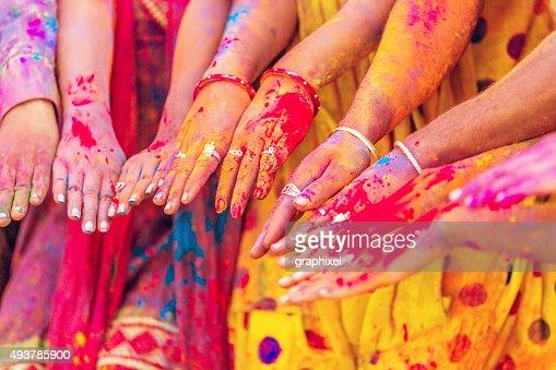 Indian People Celebrating Holi Festival