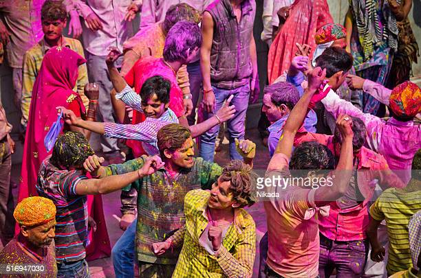 Indian People Celenrating Holi