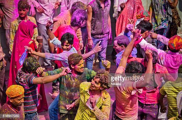 Indian People Celenrating Holi