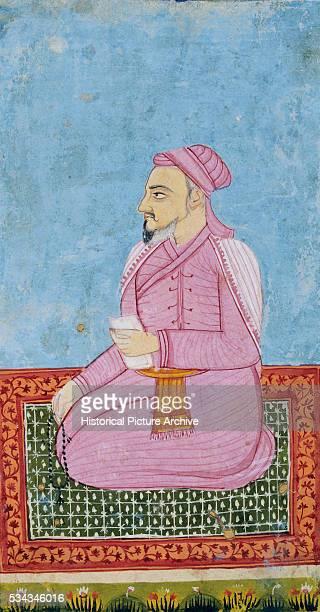 Indian PersianStyle Miniature of Ruler Shams alUmara