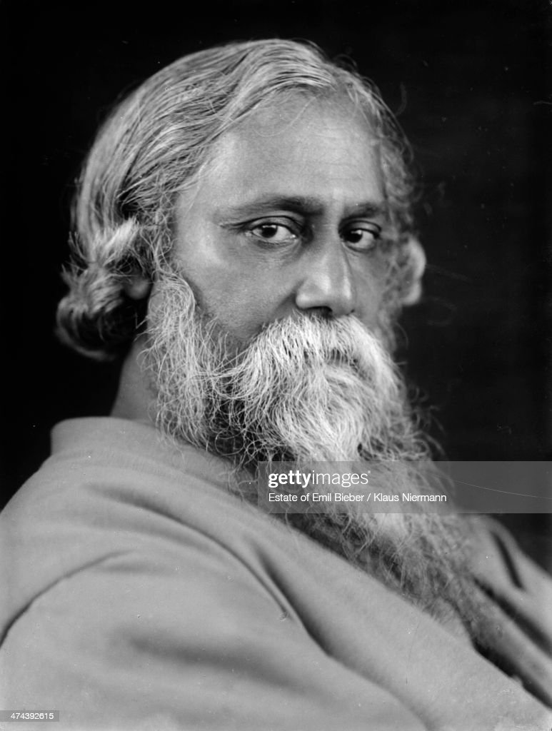 Indian philosopher, poet and painter <a gi-track='captionPersonalityLinkClicked' href=/galleries/search?phrase=Rabindranath+Tagore&family=editorial&specificpeople=644181 ng-click='$event.stopPropagation()'>Rabindranath Tagore</a> (1861 - 1941), 1925.