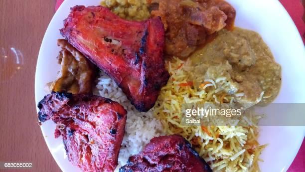 Indian Plate of Tandoori Chicken