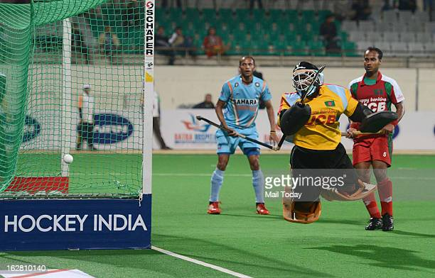 Indian player Sunil during their Indian Vs Bangladesh Hockey match in FIH Hockey World League Round 2 match at National Stadium on Sunday