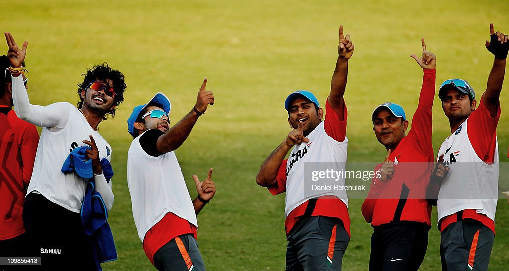 2011 ICC World Cup - India Training Session