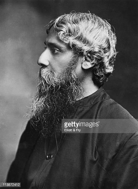 Indian poet artist and writer Rabindranath Tagore circa 1910