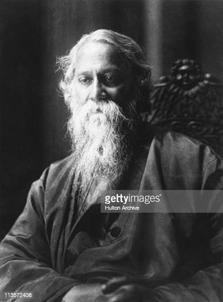 Indian poet artist and writer Rabindranath Tagore circa 1930
