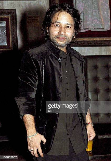 Indian pop/rock/folk singer Kailash Kher poses at the release by Sony Music of Indian rapper and hip hop singer Hard Kaur's sophomore album PLAY...