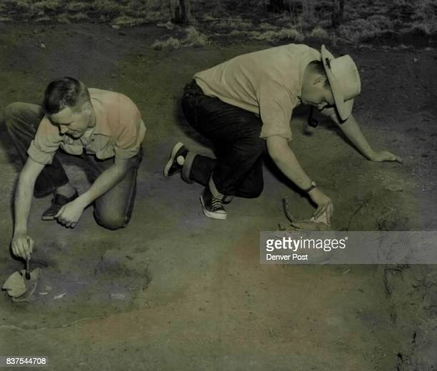 Indian pottery dating back to 10701150 AD is being uncovered by Arizona State College students at pit house near Flagstaff Charles Stasek of Chicago...