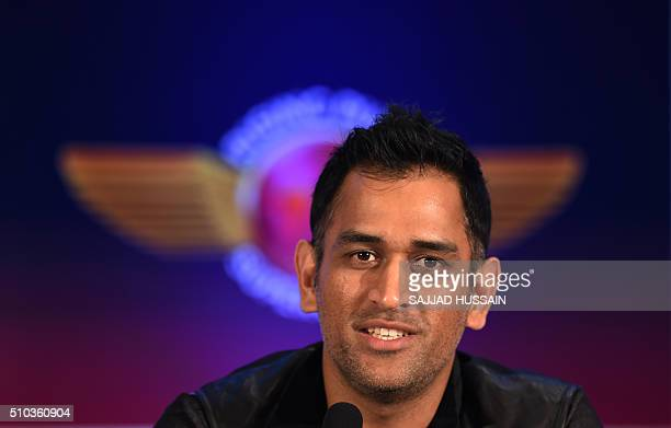 Indian Premier League Rising Pune Supergiants cricket team captain Mahendra Singh Dhoni speaks during an event to unveil the team jersey in New Delhi...