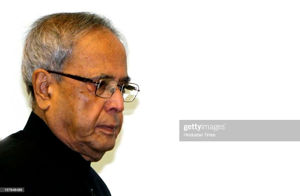 Indian President Pranab Mukherjee during the inauguration of Eleventh National Convention on 'Sustainable Housing Masses' at Vigyan Bhavan on December 7, 2012 in New Delhi, India.