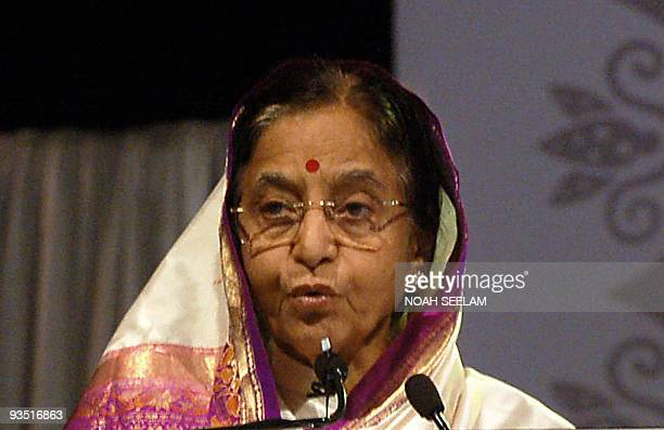 Indian president Prathibha Devisingh Patil delivers the inaugural address during the World Association of Newspapers 's annual conference in the...