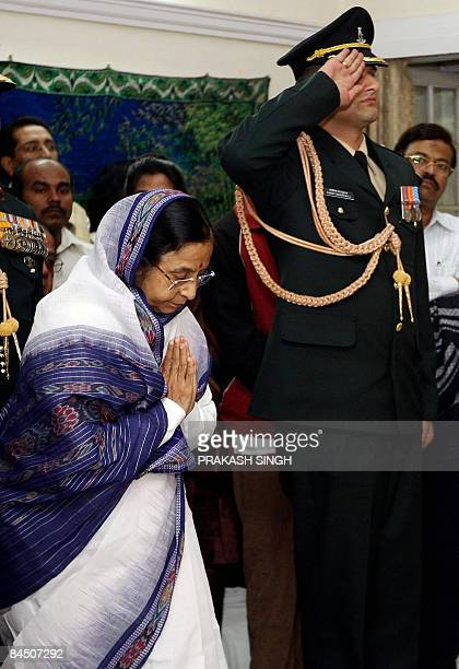 Indian President Pratibha Patil pays homage to former president R Venkataraman in New Delhi on January 28 2009 Former president R Venkataraman who...