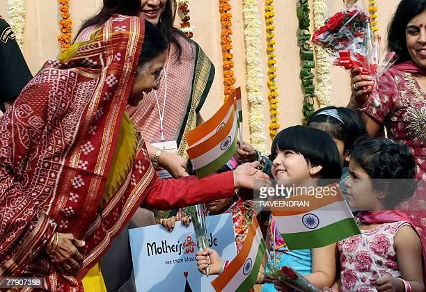 Indian President Pratibhasingh Patil meets schoolchildren during Children's Day celebration in New Delhi 14 November 2007 Despite crackdowns and...