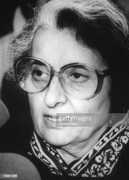 Indian Prime Minister Indira Gandhi 1970s