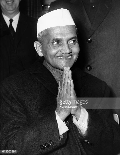 Indian Prime Minister Lal Bahadur Shastri arrives in London for talks with Harold Wilson during a four day visit 1964