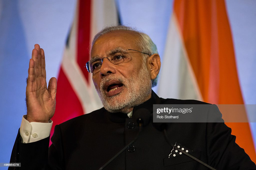 Indian prime minister narendra modi addresses industry - Prime minister of india office address ...