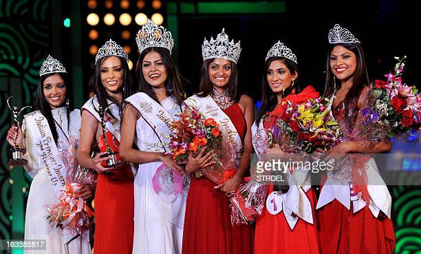 Indian Princess and International Princess 2013 2nd runner up Meshelle Naidoo from South Africa 1st runner up Michelle Haukes from Suriname winner...