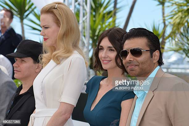 Indian producer Uday Chopra Spanish actress Paz Vega Australian actress Nicole Kidman and French director Olivier Dahan pose during a photocall for...