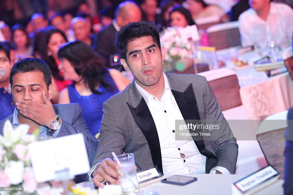 Indian Professional Boxer Vijendra Singh during a sixth edition of Hindustan Times Most Stylish Awards 2016 at Hotel JW Marriot, Aerocity on May 24, 2016 in New Delhi, India.