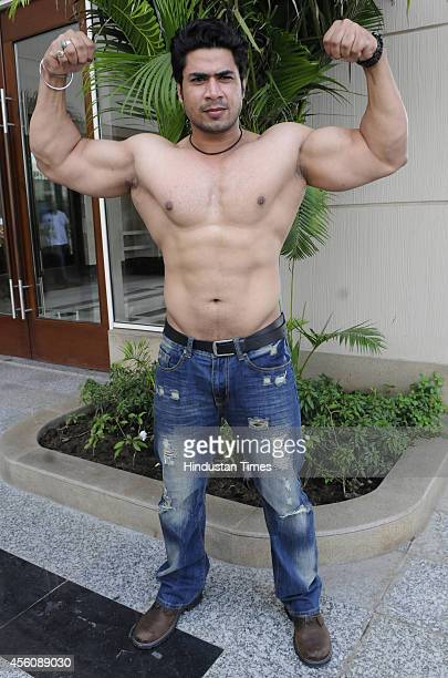 Indian professional wrestler Aman Preet Singh aka Mahabali Shera pose for a profile shoot on September 25 2014 in Indore India Total NonStop Action...