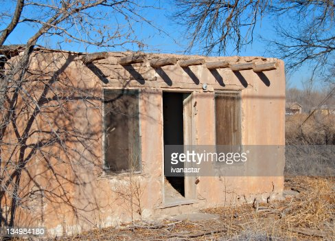 indian pueblo adobe house ruin stock photo getty images