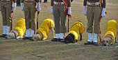 Indian Railway Protection Force dog squad personnel perform a drill during Republic Day celebrations in Secunderabad on January 26 2015 Barack Obama...