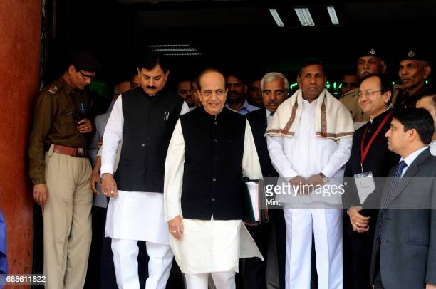 Indian Railways Minister Dinesh Trivedi leaves the Railway Ministry building for Parliament in New Delhi