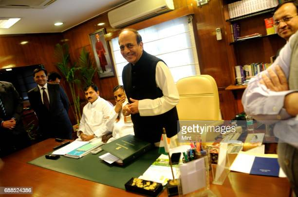 Indian Railways Minister Dinesh Trivedi photographed at his office at Rail Bhawan in New Delhi