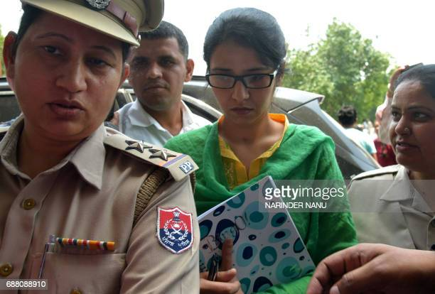 Indian resident Uzma arrives at Amritsar Airport to travel to New Delhi after arriving from Pakistan in Amritsar on May 25 2017 A 20yearold Indian...