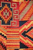 Close up of a Indian navajo rug.
