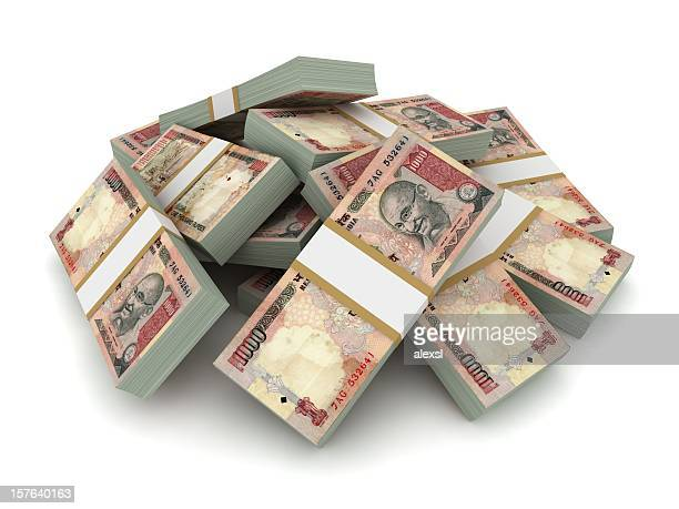 Indian Rupee Pile