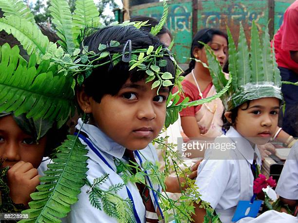 Indian school students participate in an awareness rally on World Environment Day in Agartala on June 5 2009 The International Protocol for Climate...