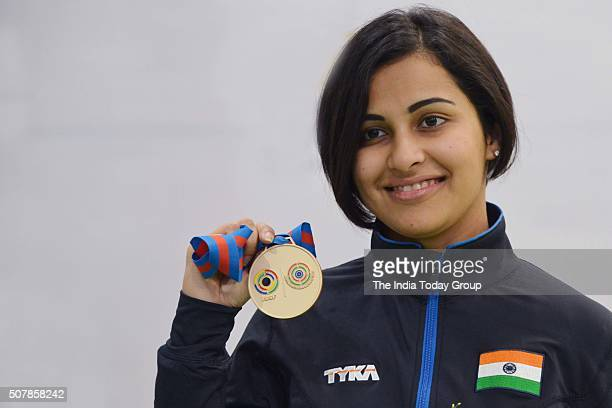 Indian shooter Heena Sidhu earned a quota place for this year's Olympic Games in Rio after winning the gold medal in womens 10metre air pistol event...