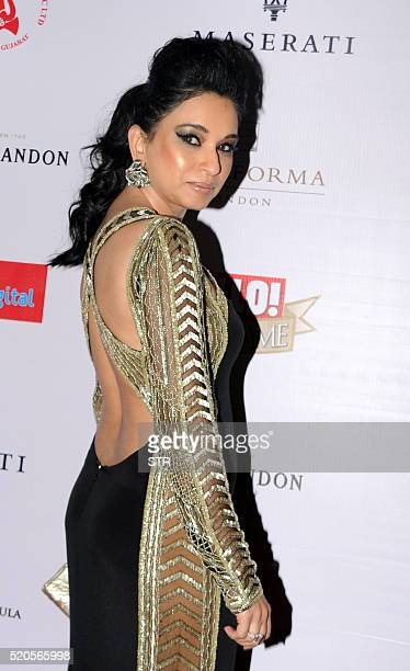 Indian socialite Sheetal Mafatlal poses as she attends the Hello Hall of Fame Awards 2016 in Mumbai late April 11 2016 / AFP / STR