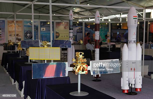 Indian Space Research Organisation stall at 102nd Indian Science Congress exhibition being held at BandraKurla Complex on January 3 2015 in Mumbai...