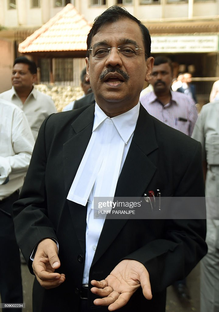 Indian Special public prosecutor Ujjwal Nikam speaks to the media outside the sessions court in Mumbai on February 8, 2016. An American who helped plot the Mumbai attacks told a court via video call on February 8 that Pakistan-based militants made two failed attempts on the Indian city before killing 166 people in November 2008. David Headley, who is serving 35 years in a United States prison for his role in the atrocity, said Lashkar-e-Taiba (LeT) militants had been behind the attacks eight years ago. AFP PHOTO / PUNIT PARANJPE / AFP / PUNIT PARANJPE